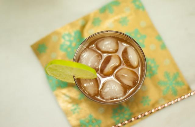 Ginger tea + a boozy rum version  {vegan, gluten-free}